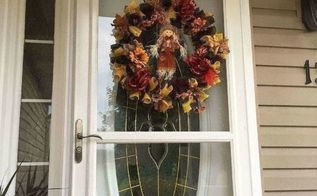 burlap fall autumn halloween wreath