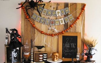 Spooky Halloween Mantel  And Banner