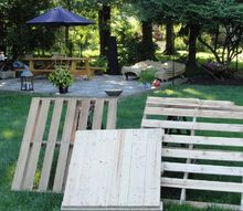 make a tilt out trash bin out of pallets