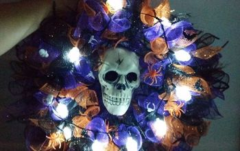 A Scary Wreath for Under $10.  WA HA HA