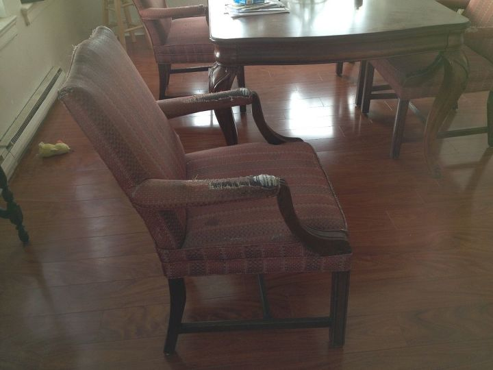 q how do i upholster these chairs