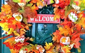 DIY Dollar Store Fall Wreath Tutorial