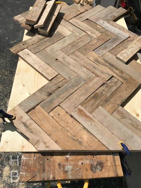 diy pallet wood headboard