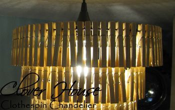 3 Tiered Clothespin Chandelier
