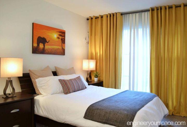 quick affordable renter friendly bedroom makeover color storage