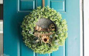 DIY Fairy Garden Fall Wreath