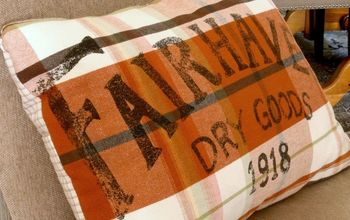 How-To Make a Pillow Cover From an Old Dress Shirt and a Tea Towel