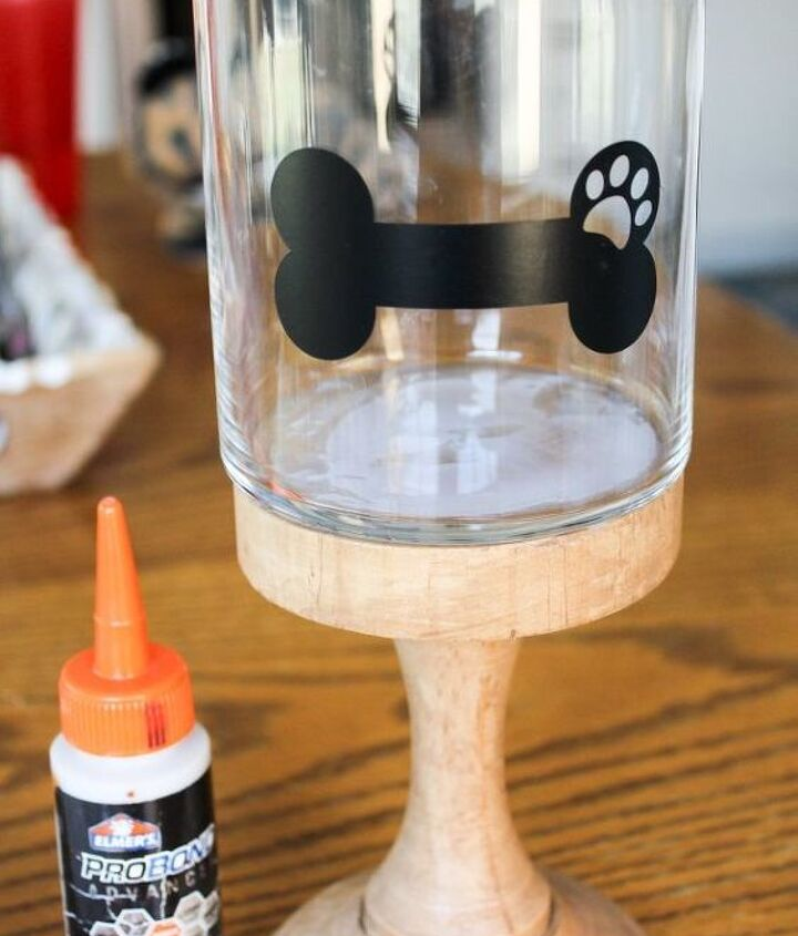 diy dog treat container upcycle project