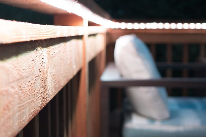 add ambient lighting to your deck railing