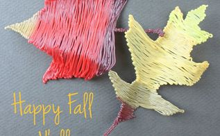 fall leaves made with a 3d printing pen