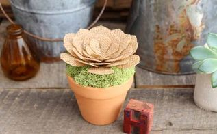 burlap succulent decor how to make your own