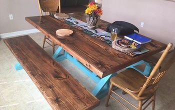 How to Build a Rustic Farmhouse Table - Trestle Style X Frame