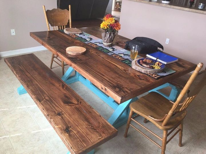 how to build a rustic farmhouse table trestle style x frame. How to Build a Rustic Farmhouse Table   Trestle Style X Frame