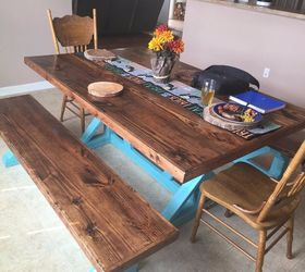 How To Build A Rustic Farmhouse Table Trestle Style X Frame