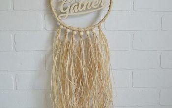 fall straw dreamcatcher wreath