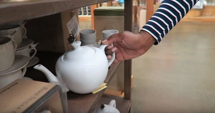 how to make a lamp out of tea cups