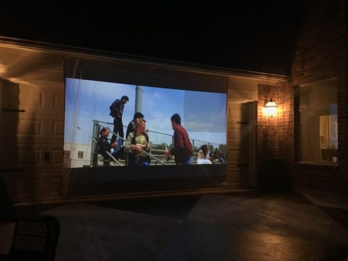 6 steps to diy ing an outdoor movie screen
