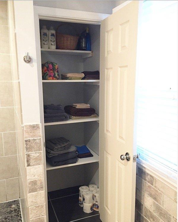 Por Diy Linen Closet Shelving Hometalk An84
