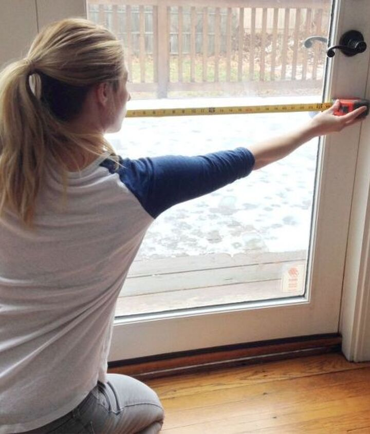 s 10 refreshing ways to avoid the see through in your glass, Step 1 Measure your front door