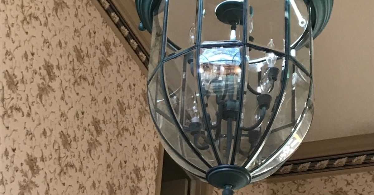 Lighting Basement Washroom Stairs: How To Clean Open Light Fixture 14 Ft Up In Open Foyer