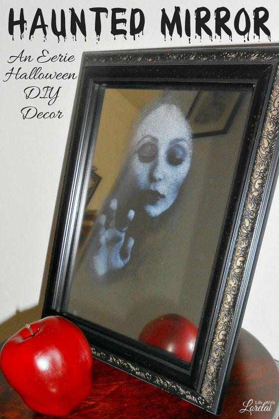 haunted mirror halloween decor diy craft