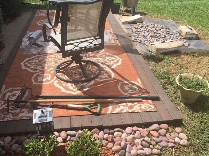 click in deck patio project