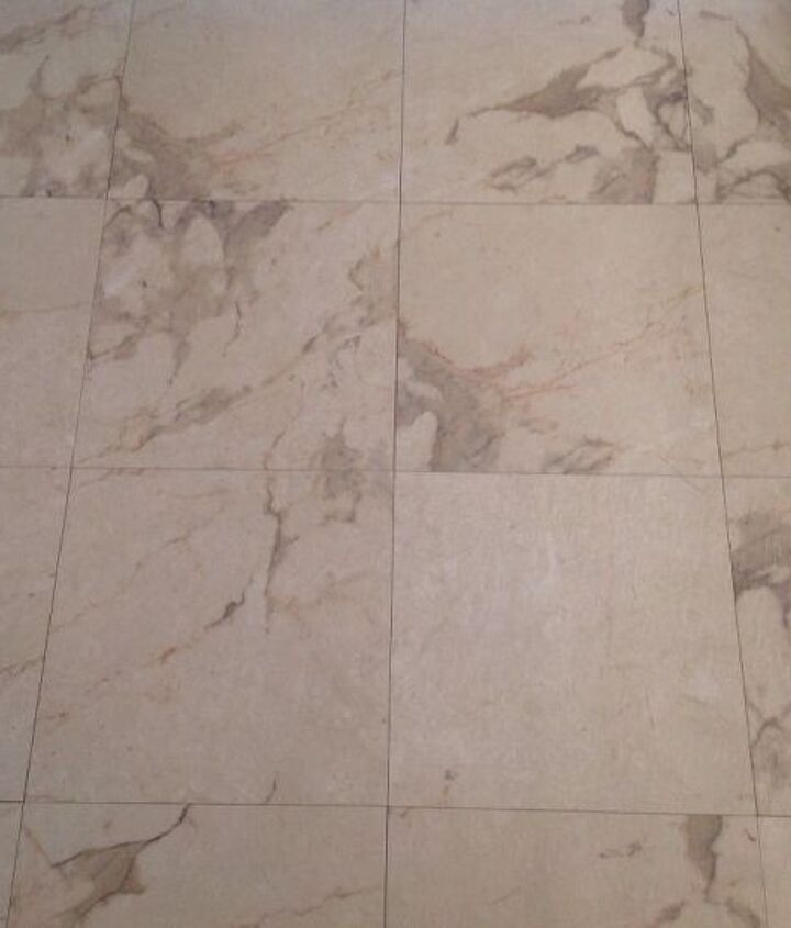 q how can i make old vinyl tiles look grouted or just uddated