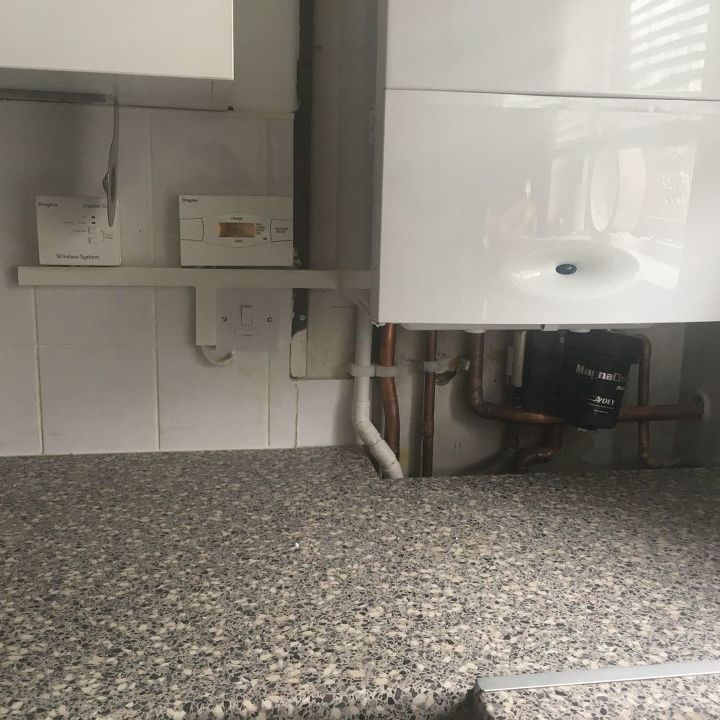 q a new idea to hide boiler pipes in the kitchen
