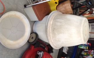 q how do i clean prepare large old plastic flower pot for repainting