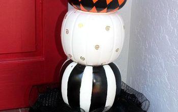 decorative stacked pumpkins