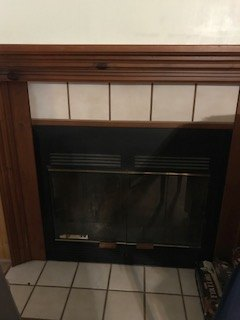 q how do i give my mobile home fireplace a new look