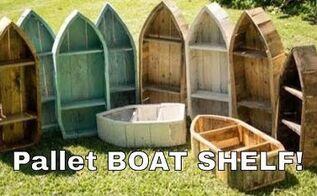 boat shelf from reclaimed pallet wood