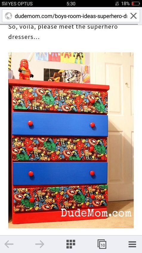 q how do i make a superhero cupboard