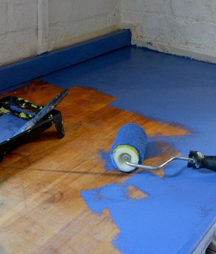 new use for floor paint to revamp a kitchen