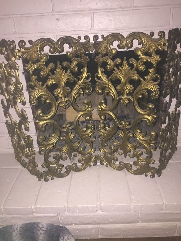 q paint for metal fireplace screen