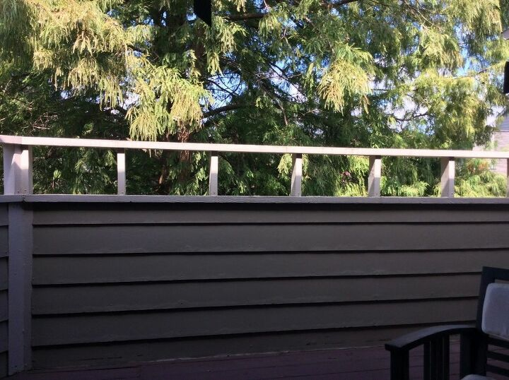q what is an easy and relatively inexpensive fix for my deck railing