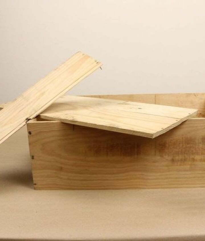 transform a wooden wine box into this for 20
