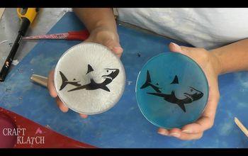 graphic shark coaster diy