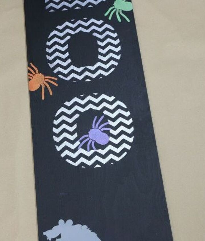 craft a wickedly easy halloween porch sign using stencils