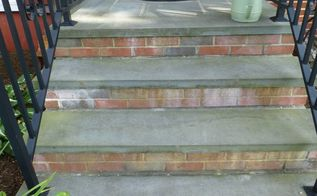 q my outside steps were done with used bricks that keep bleeding
