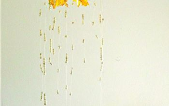 Fall Decor DIY: Pearl Leaves Chandelier