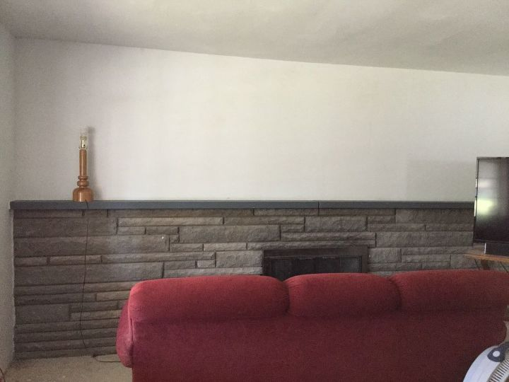 q what to do with a half wall fireplace