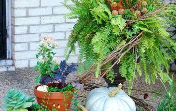 transform summer ferns into festive fall planters