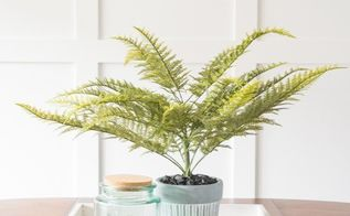 diy faux fern arrangement for under 25