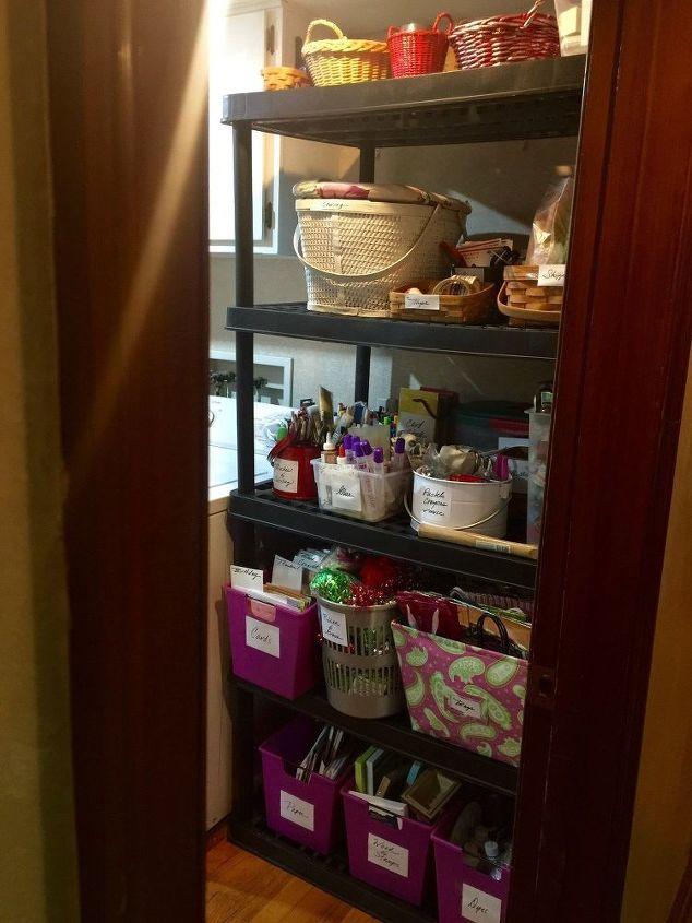Reorganized Craft Shelf