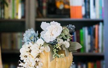 Easy Pumpkin Flower Centerpiece