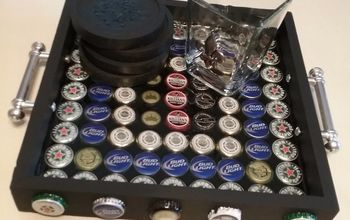 beer cap serving tray, All done