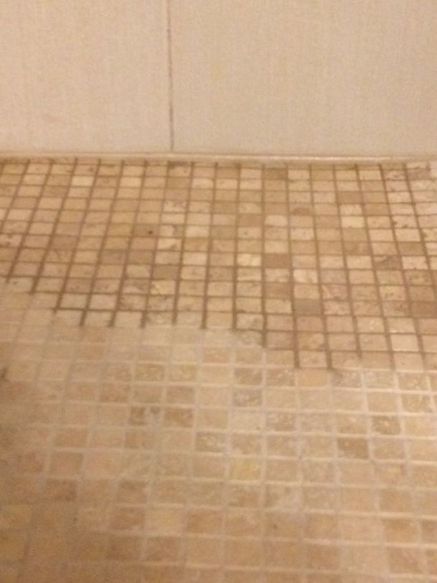 q what to do with an uneven shower floor