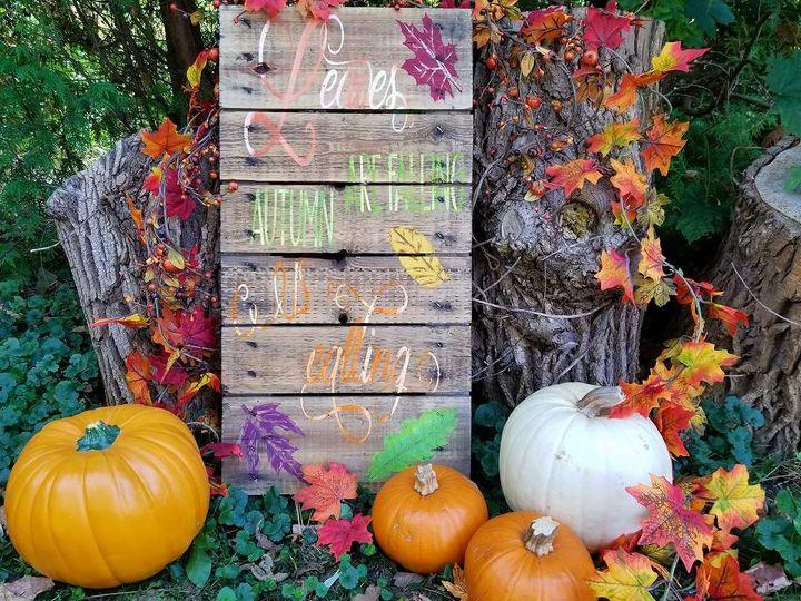 autumn is calling diy sign