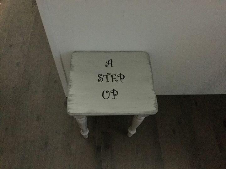 e refinished stool